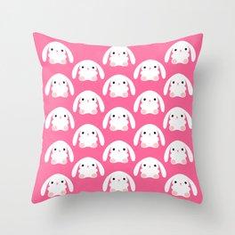 Mei the Strawberry Rabbit Throw Pillow