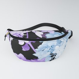 Hydrangea Branches On A Black Background #decor #buyart #society6 Fanny Pack