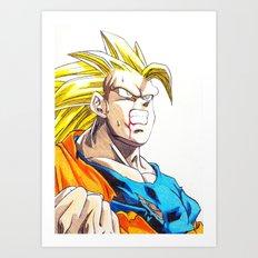 GOKU SSJ3 Art Print