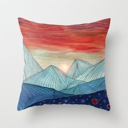 Lines in the mountains IV Throw Pillow