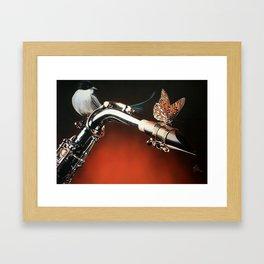 Flying Sax Framed Art Print