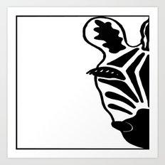 Black and White Zebra Art Print