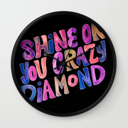 Shine On Your Crazy Diamond – Vintage Palette Wall Clock