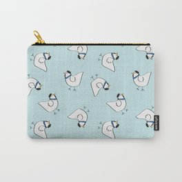 the happy french hen in bakery blue Carry-All Pouch