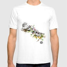 Two Birds Mens Fitted Tee White MEDIUM
