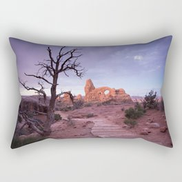 Arches National Park, Turret Arch, Sunrise Rectangular Pillow