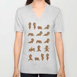 Yoga Bear Unisex V-Neck