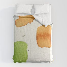Orange and Green Abstract Art Comforters
