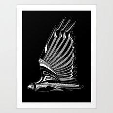 Hawk Deco III Art Print