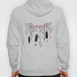 Raven Feathers And Roses Crystal Spirit Gazer Hoody