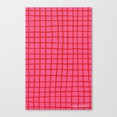 Warm Grid Canvas Print
