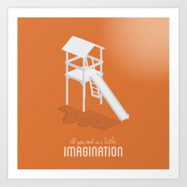 Never Forget to Play - Slide Art Print