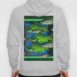 MODERN ART DECORATIVE GREEN FISH AQUATIC Hoody
