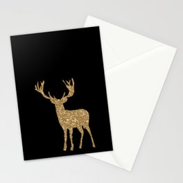 Sparkling golden deer - Wild Animal Animals Stationery Cards