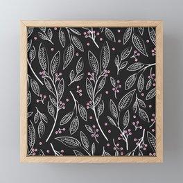 Flora Black 005 Framed Mini Art Print