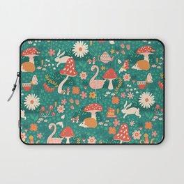 Wandering in Wonderland - Teal Laptop Sleeve