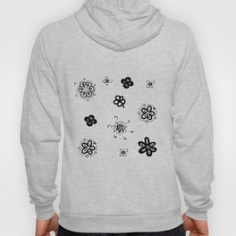 flowers on white background . home decor Hoody
