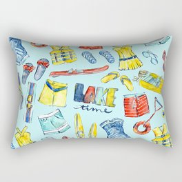 Lake time Rectangular Pillow