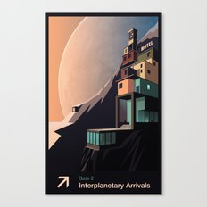 Interplanetary arrivals. Gate 2. Canvas Print