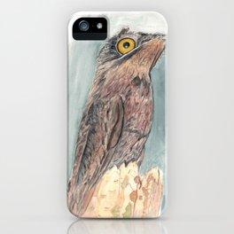 Watercolor Birds: Common Potoo iPhone Case