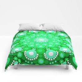 Emerald Mandala Comforters