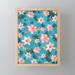 Tropical Flowers Palm Leaves Finesse #8 #tropical #decor #art #society6 Framed Mini Art Print