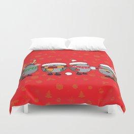 Christmas hedgehogs Duvet Cover