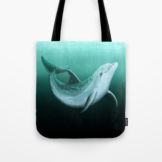 Riversoul the Dolphin ~ Art by Amber Marine Tote Bag