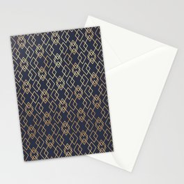 Navy & Gold Geo Pattern Stationery Cards