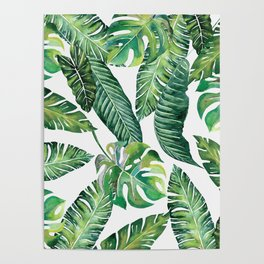 Jungle Leaves, Banana, Monstera #society6 Poster