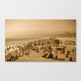Santa Monica Summer Canvas Print