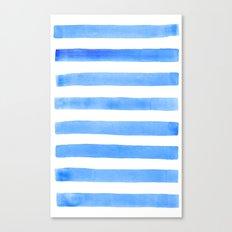 Blue stripes Canvas Print