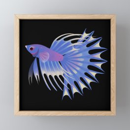 Two crowntail bettas Framed Mini Art Print
