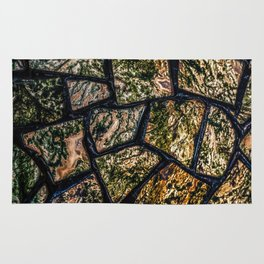 Colorful stainglass pattern Rug