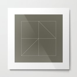 #118 Contradictions – Geometry Daily Metal Print