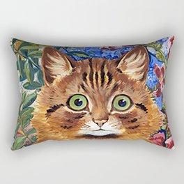 Louis Wain's Cats - Cat In the Garden Rectangular Pillow