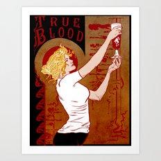 True Blood Nouveau Art Print