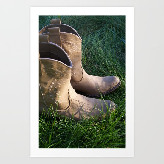 Country Boots 2 Art Print