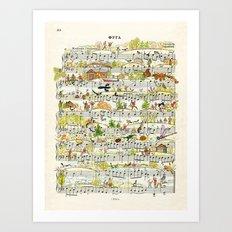onnotes-fuga Art Print