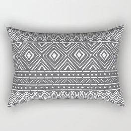 African Mud Cloth // Charcoal Rectangular Pillow