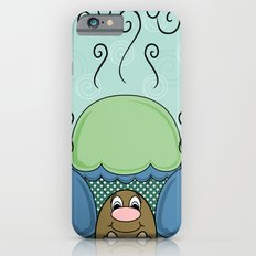 Cute Monster With Blue And Cyan Frosted Cupcakes Slim Case iPhone 6s