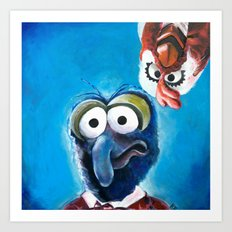 Gonzo and Camilla Muppet Painting