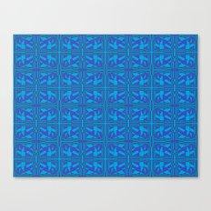 Blue Green Layers Canvas Print