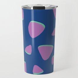Abstract Graphic Pattern | Blue | Pink | Green Travel Mug