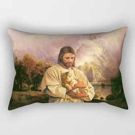 The Cat of Christ Rectangular Pillow