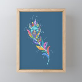 One Feather ... One World Framed Mini Art Print