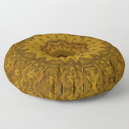 I only say it once its leather in a pattern style. Floor Pillow