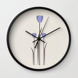 Minimal Bluebells Wall Clock