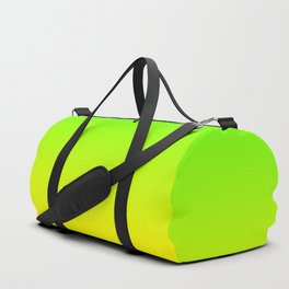 Neon Green and Neon Yellow Ombré  Shade Color Fade Duffle Bag