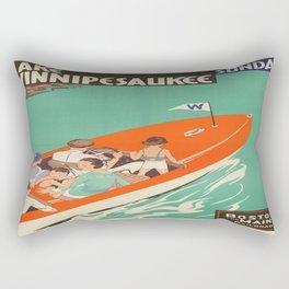 Vintage poster - Lake Winnipesaukee Rectangular Pillow